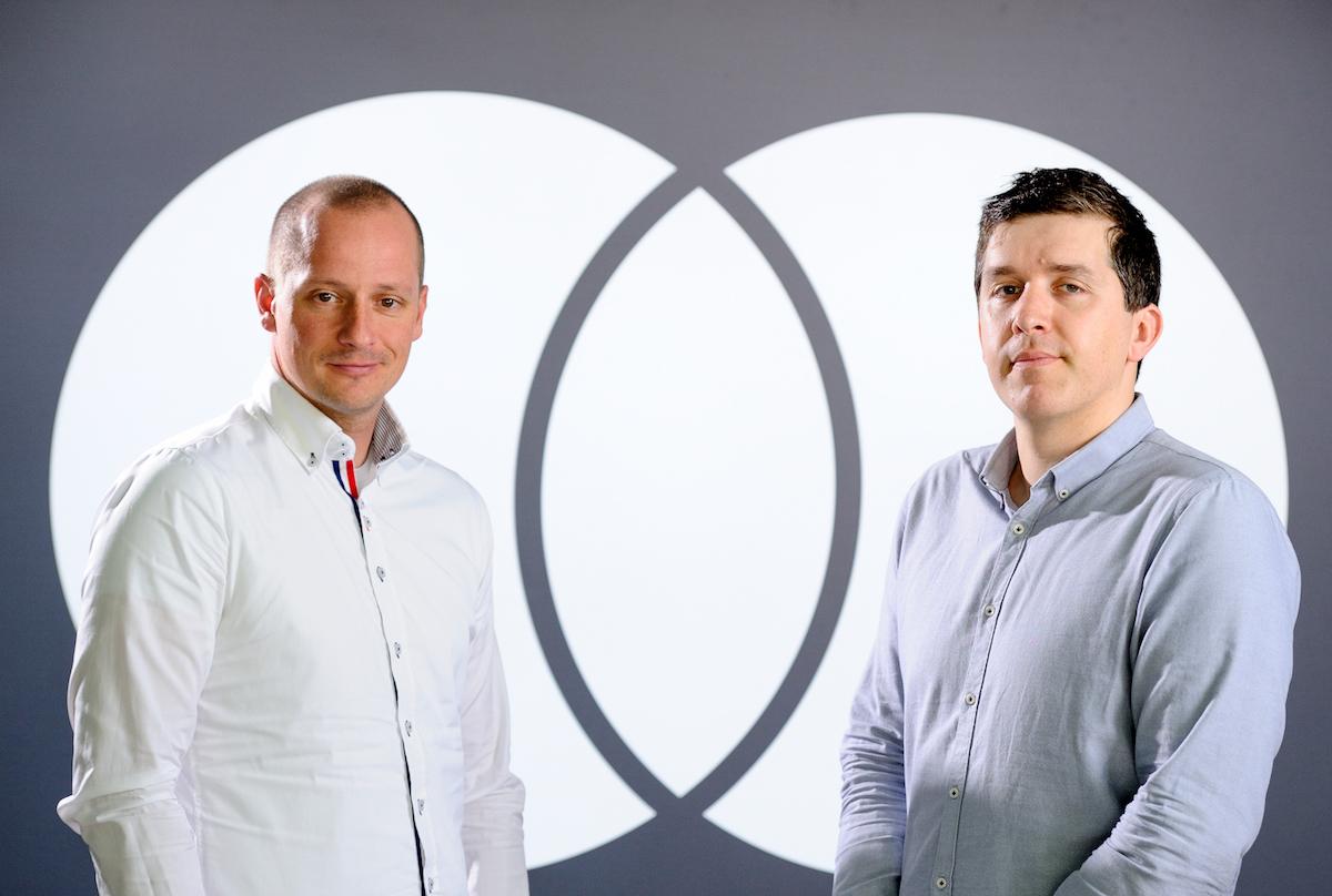 Boštjan Fabjančič in Luka Gabrovšek, predstavnika Mastercard Slovenija